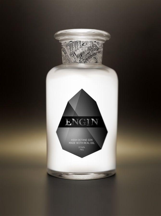 High Octane Gin  Beautiful bottle!  Design: Marco Sergio Gabriel