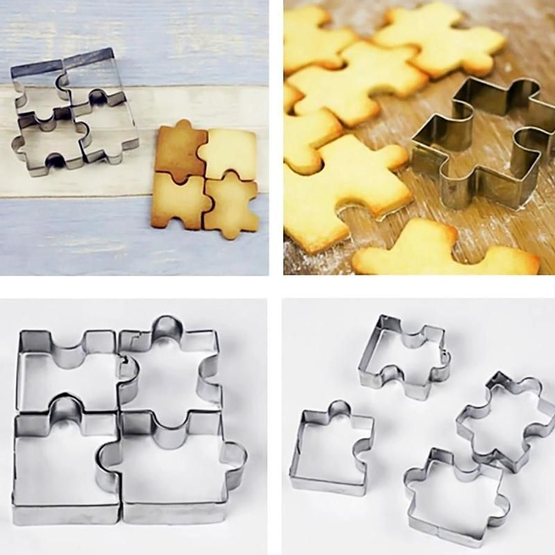 4Pcs Cookie Cutter for kids Sandwiches Cutter Stainless Steel Cakes Bread