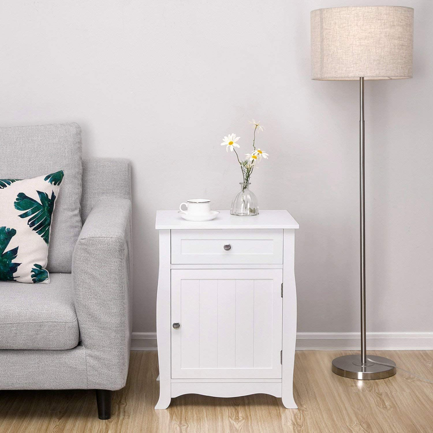 Whether It S Up Next To Your Favorite Recliner Or Resting Next To Your Sofa The Songmics End Side Table With Drawer Chair Side Table Coastal Bedroom Furniture