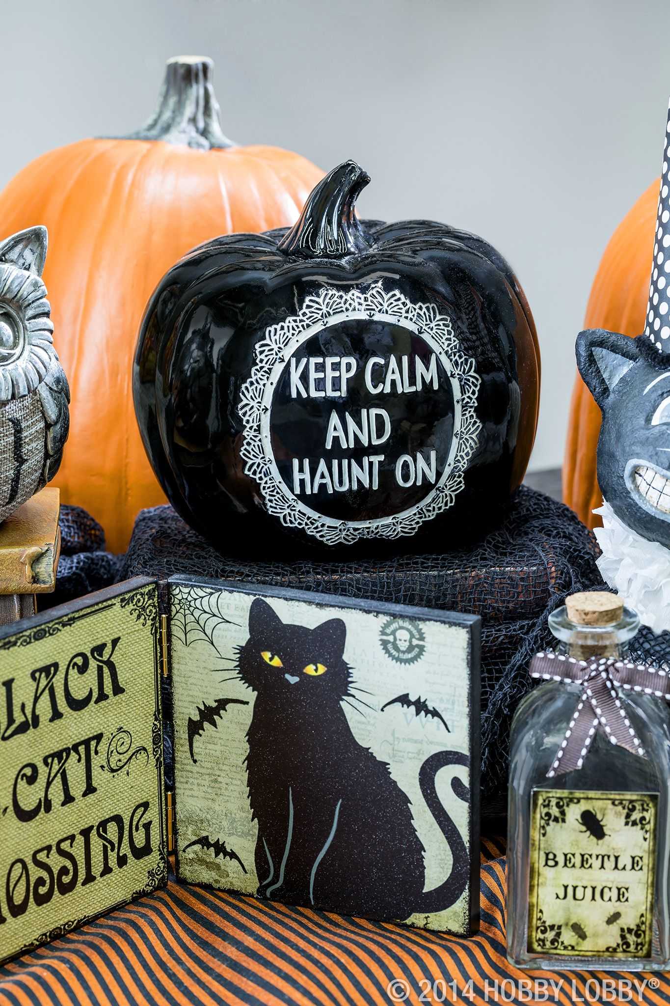 These pretty pumpkins are perfect for a spooky Halloween display - Hobby Lobby Halloween Decorations