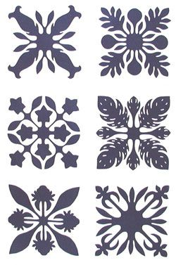The style of Hawaiian Quilt which is made up of a collection of ... : free hawaiian quilt patterns - Adamdwight.com