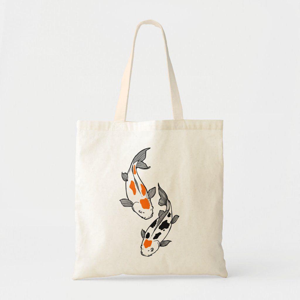 My Daily Women Tote Shoulder Bag Koi Fishes Handbag