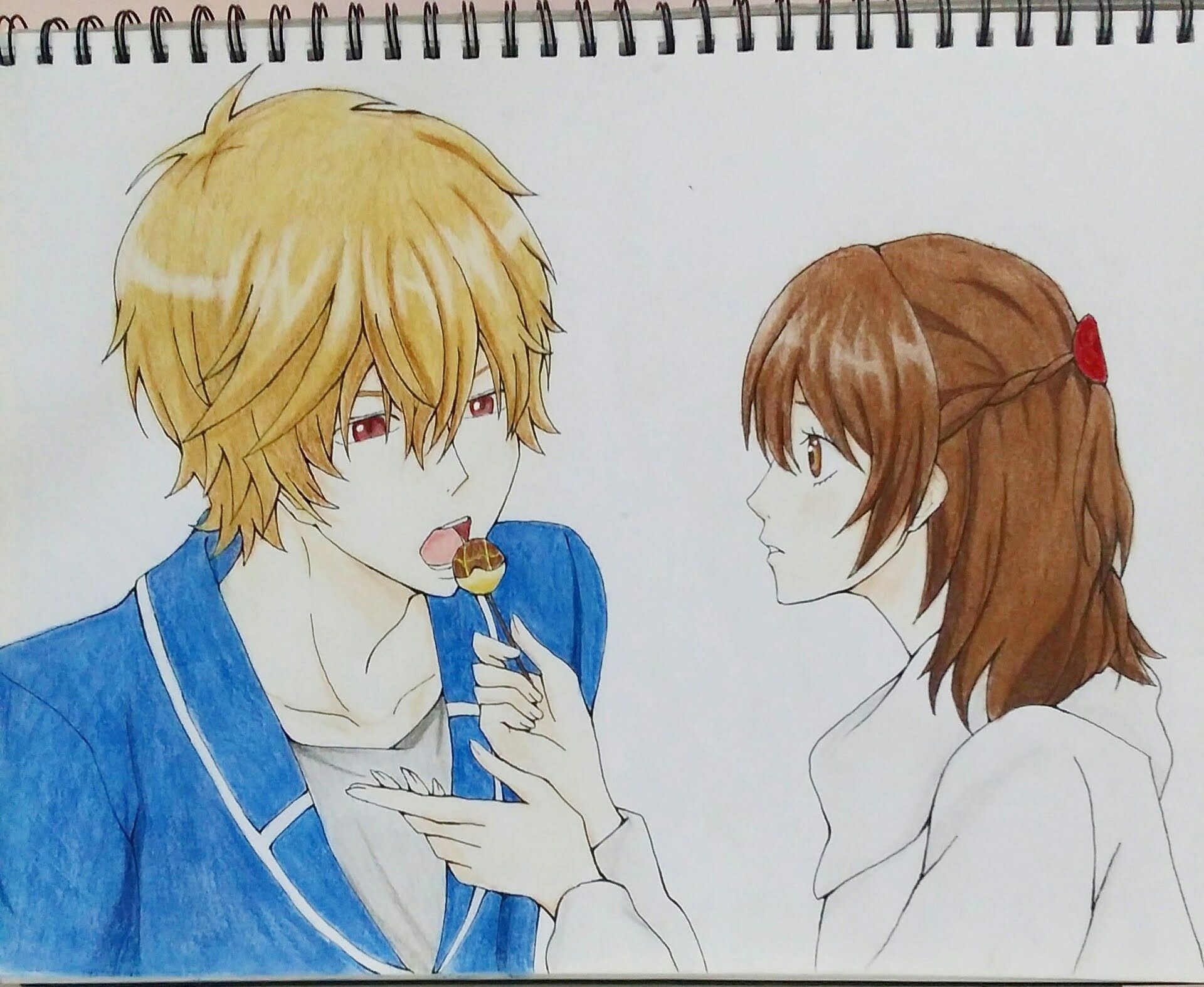 Drawing Kyouya And Erika From Wolf Girl And Black Prince