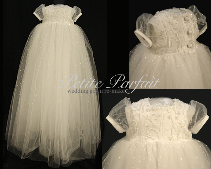 wedding gown re-make christening | Blessing dressed | Pinterest ...