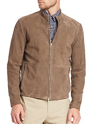 5dfb56758420b THEORY TWO-WAY ZIP FRONT SUEDE JACKET.  theory  cloth