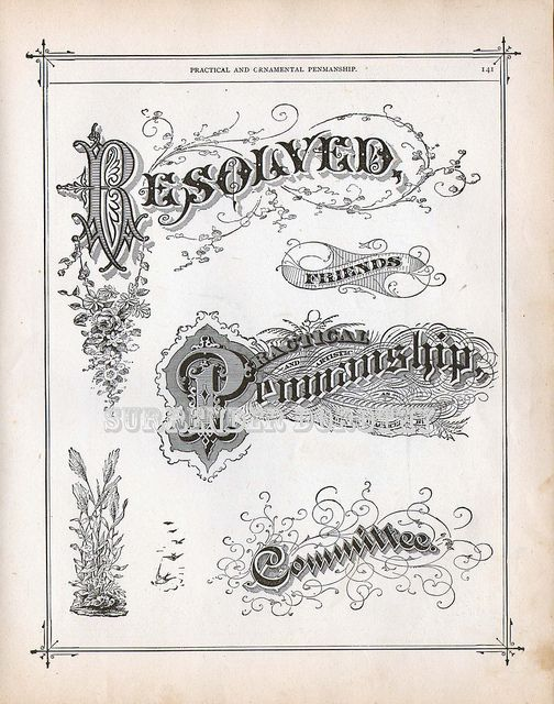 Fancy lettering victorian calligraphy lessons