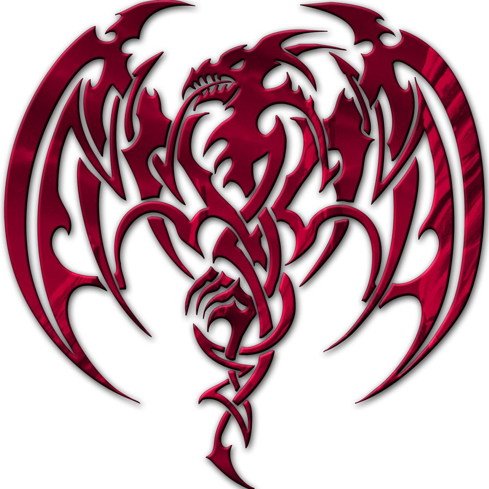 Welsh dragon tattoo designs - Red Dragon Medieval Hollow Tribal Dragon Head Dragon Tattoo