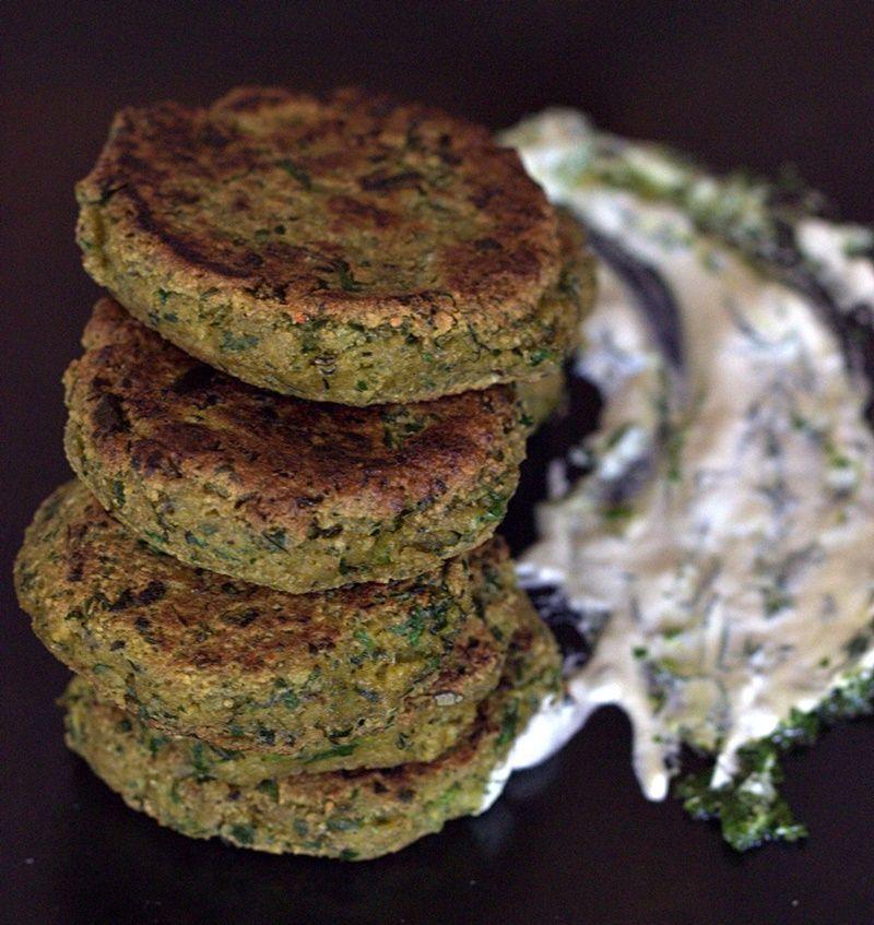 Tofu patties with herbs and chives ,with cashew tzatziki #tofu #vegan #herbs