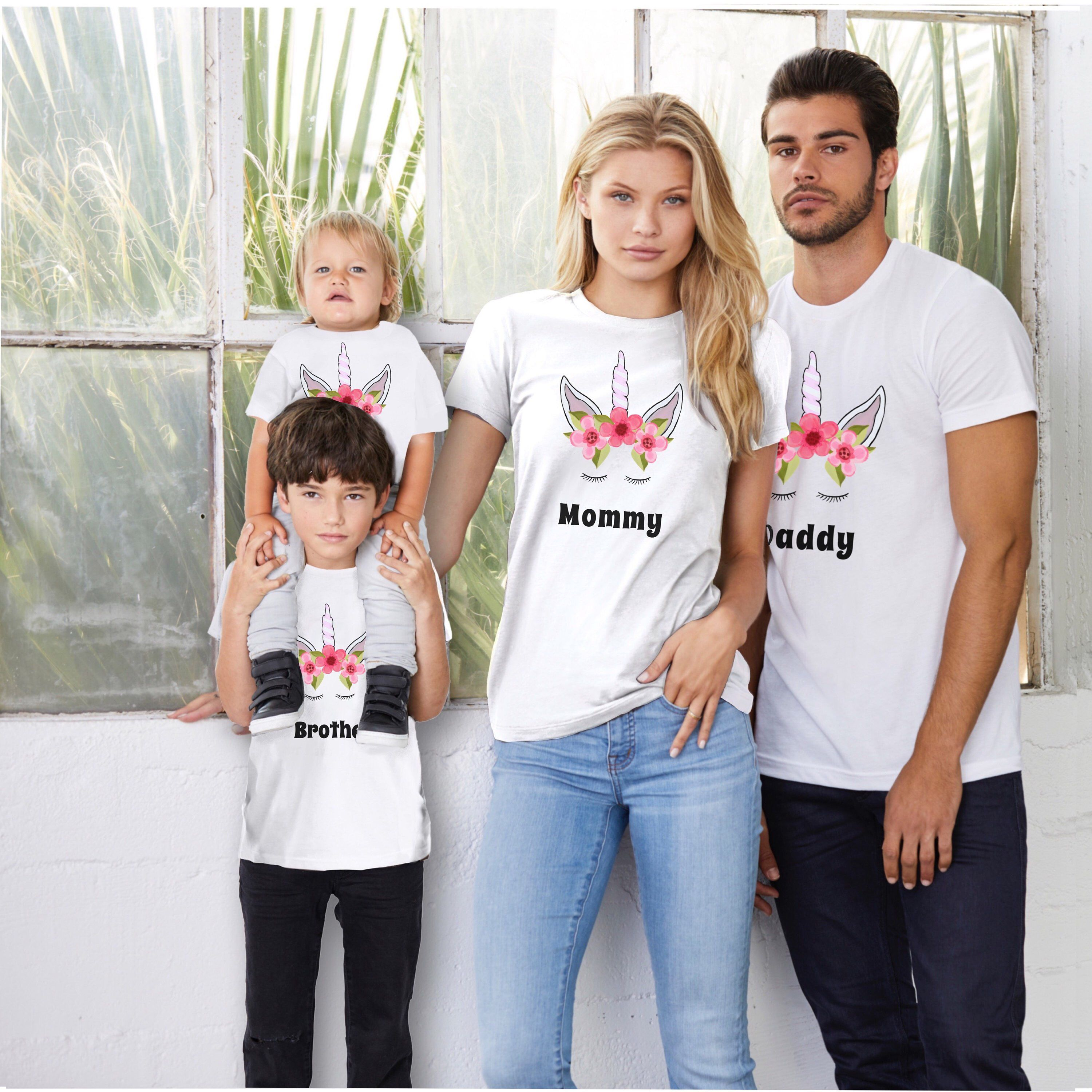 Your family will look absolutely cute with these matching family shirts!  Your little unicorns will be adorable wearing them. The whole family can  wear them ... d1fc48704