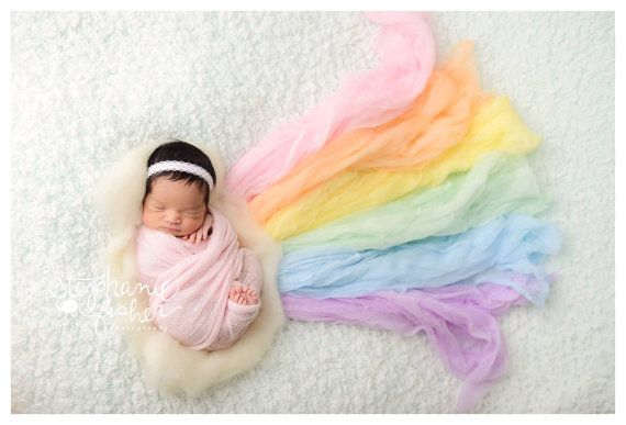 Newborn wrap rainbow baby rainbow set photography baby boy or baby girl