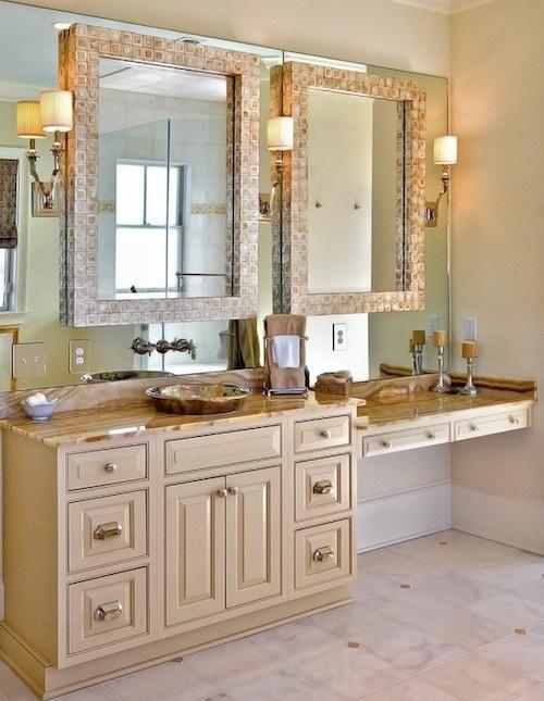 Bathroom Vanities Brown And Big Single Bathroom Vanity With Unique Double Vanity Mirro Decorative Bathroom Mirrors Traditional Bathroom Bathroom Mirror Design