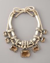 Lanvin Pave Crystal & Rope Necklace.