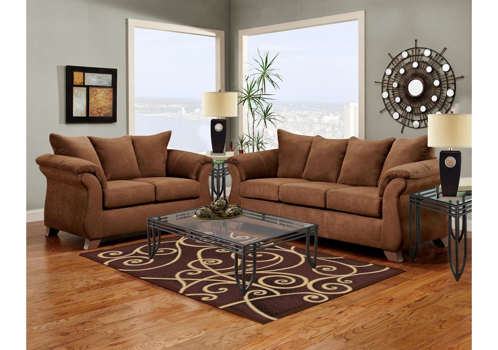 Hollis Chocolate 5 Pc Living Room - Living Room Sets (Brown)