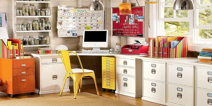 Colorful decorating ideas with soft interior walls nice home office colors officedesign officespace officestyle officefashion homeoffice also rh pinterest