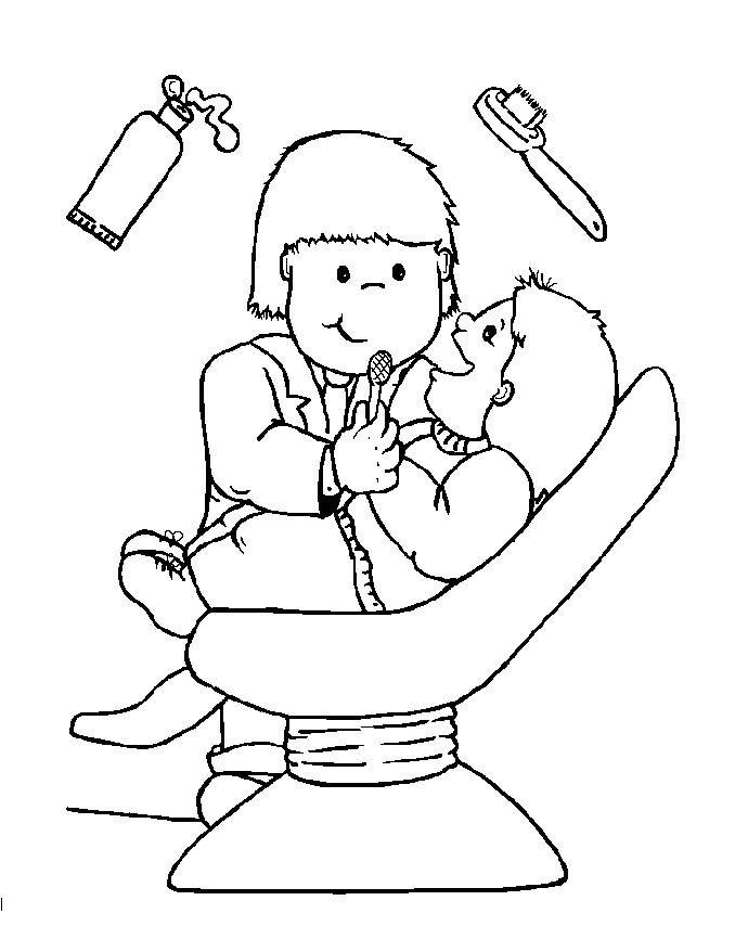 dentist people who help us preschool early years coloring pages - Dentist Coloring Pages