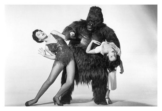 (Anne Bancroft & Charlotte Austin) Two beauties...and the Beast,