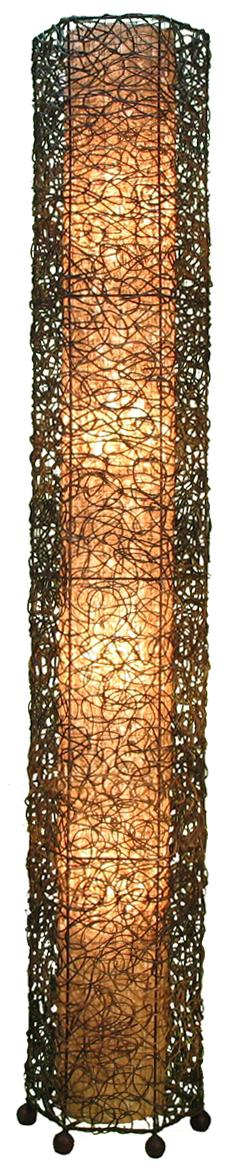 Eangee Giant Tower Durian Shade Nito Vines Floor Lamp ...