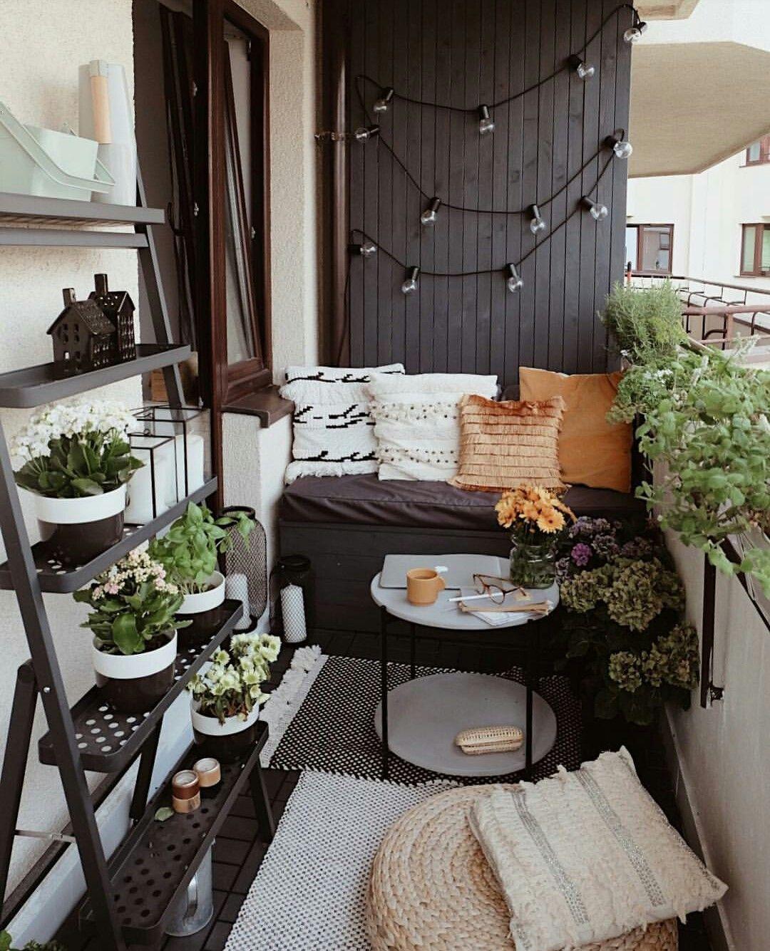 Pin by Gundega Marčenko on Balkon  Small balcony decor, Balcony
