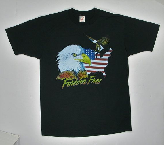 1990 Eagle T Shirt soft paper thin tee M/L by JaybrrdsWhatnots