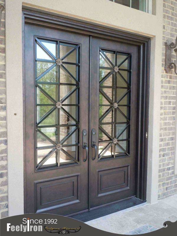 Ornamental Wrought Iron Front Door Fd 107 Buy Wrought Iron Front