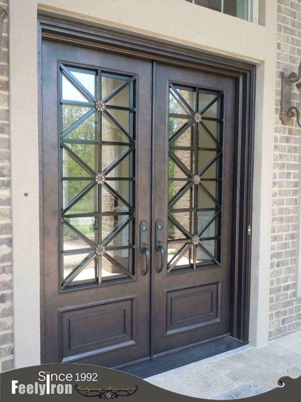 Ornamental Wrought Iron Front Door Fd 107 Us 500 2 000 Set Fujian China Mainland Wrought Iron Front Door Wrought Iron Entry Doors Iron Entry Doors