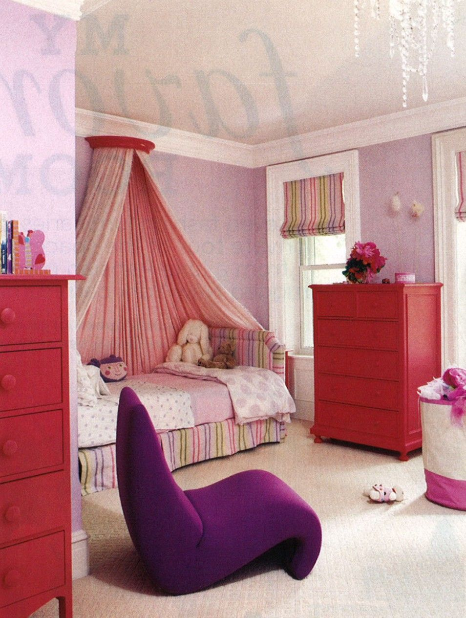 Luxury Girls Bedrooms The Luxury Pink Wall Decoration Design In Cute Little Girl Rooms