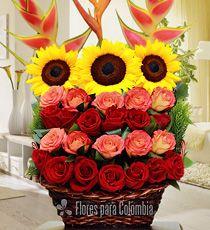 Cumpleaños para mamá | Flores de colombia, Arreglos florales ...