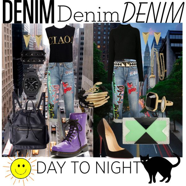 """ny denim day to night"" by kc-spangler on Polyvore"