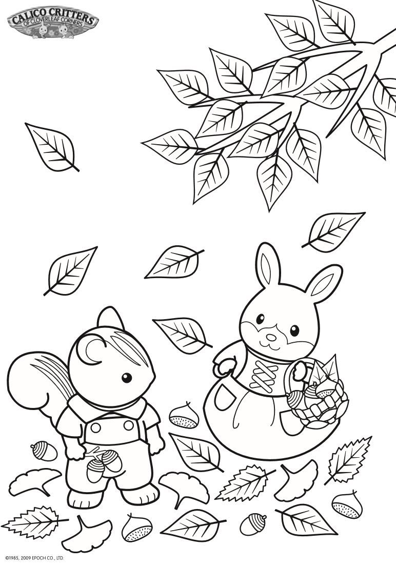 coloring pages of calico critters on kidsnfun.co.uk