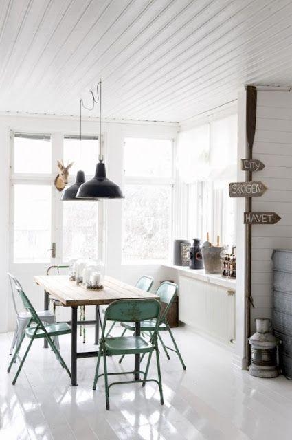 - Industrial & Shabby Chic -   Design della sala da pranzo ...