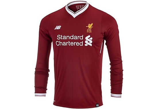 0661d4abd76 New Balance Kids Liverpool L S Home Jersey 2017-18