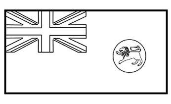 Flags Of Australia State Flag Of Tasmania Colouring Pages Tasmania History