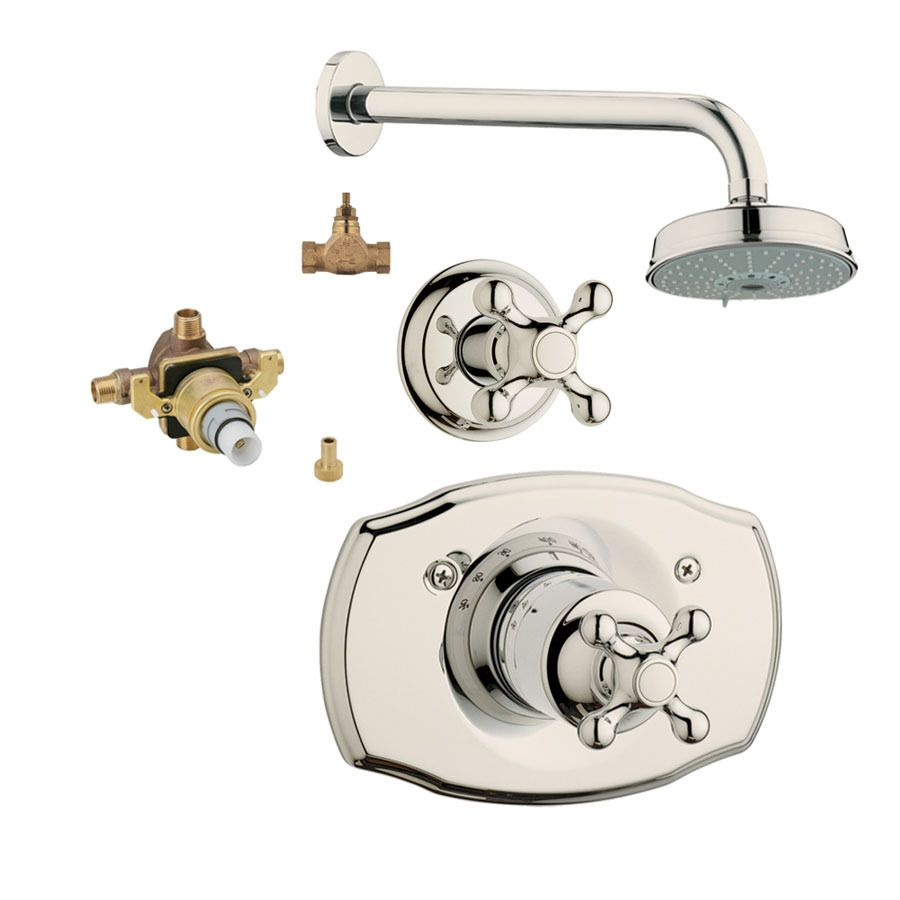 Grohe Seabury Polished Nickel 1-Handle Shower Faucet With Multi ...