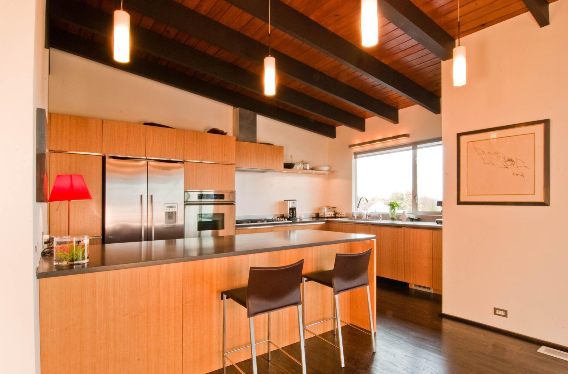 Remodeled Mid Century Modern Home By Build LLC Kitchen via Design