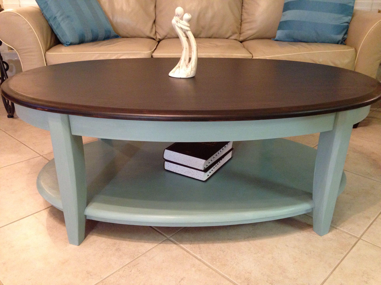 Beautiful Heavy Solid Wood Coffee Table Top Redone In Java Gel