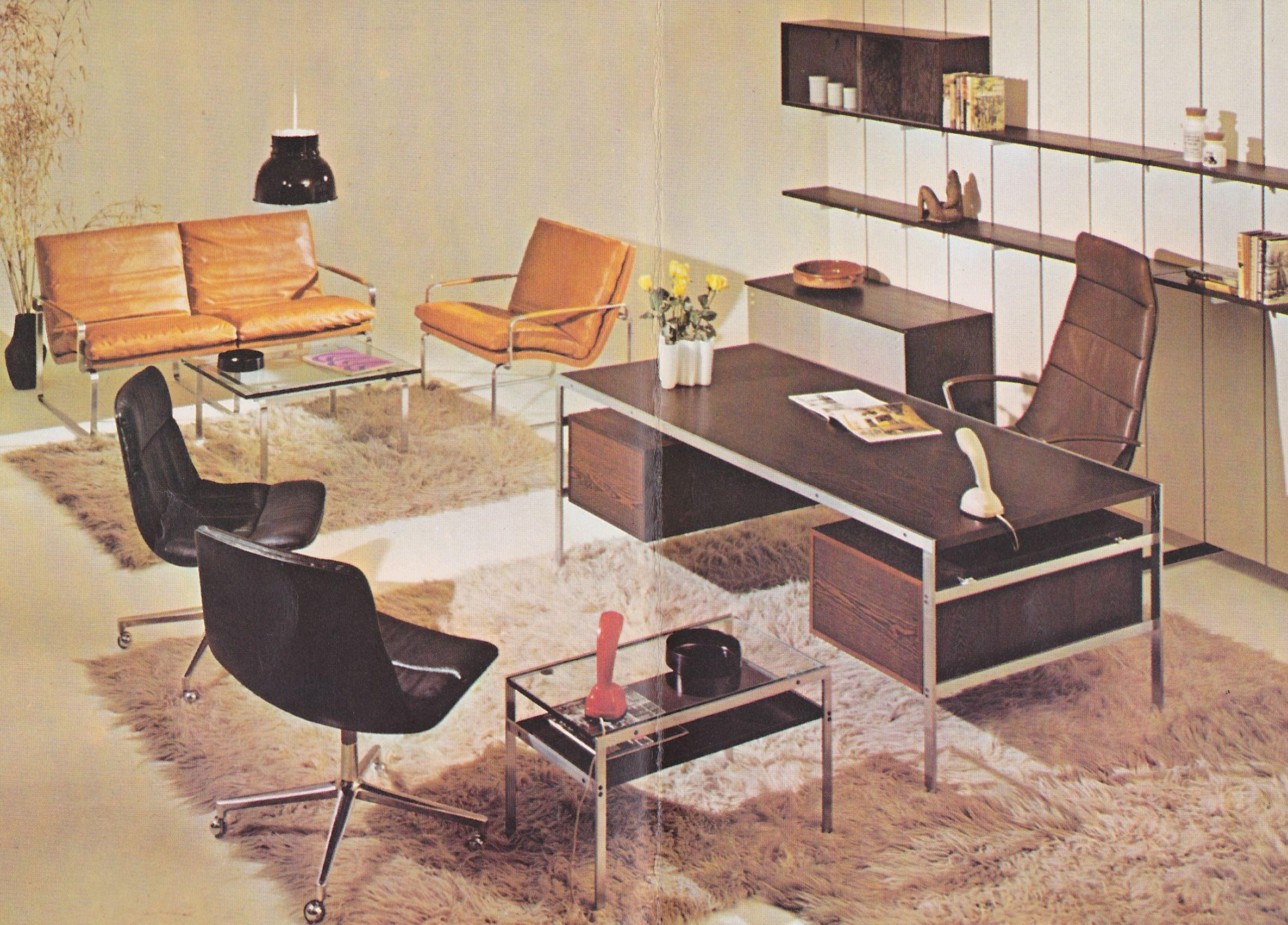 Desk By Fabricius U0026 Kastholm For Bo Ex Furniture, Additional Pieces By  Fabricius U0026 Kastholm And Lund U0026 Larsen For Bo Ex Furniture.