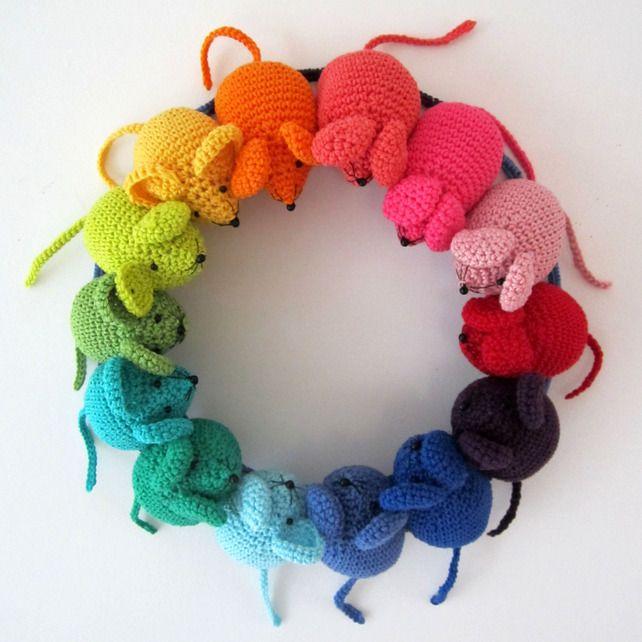 Rainbow Mouse Pattern £2.00