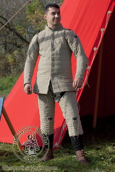 Custom Linen Chausses Medieval Leg Armor Gambeson Medieval Leg Protection