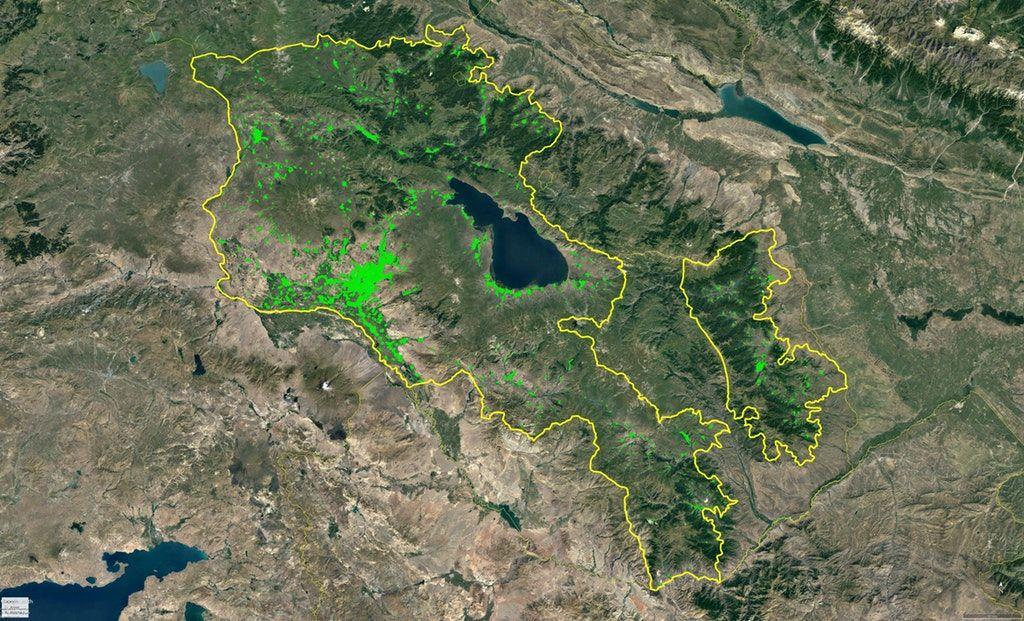 Armenia Nagorno Karabakh Population Density Oc 4800x2910 Mapporn Armenia Aerial City Photo