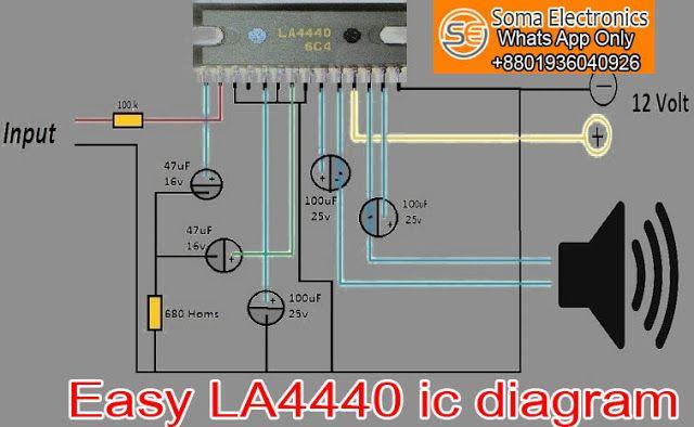 Pin On La4440 Ic Amplifier Circuit Diagram Pcb Layout