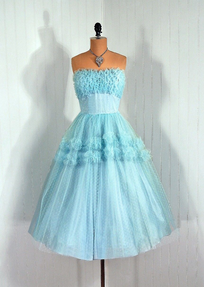 Vintage prom dress partydress vintage frock retro teadress