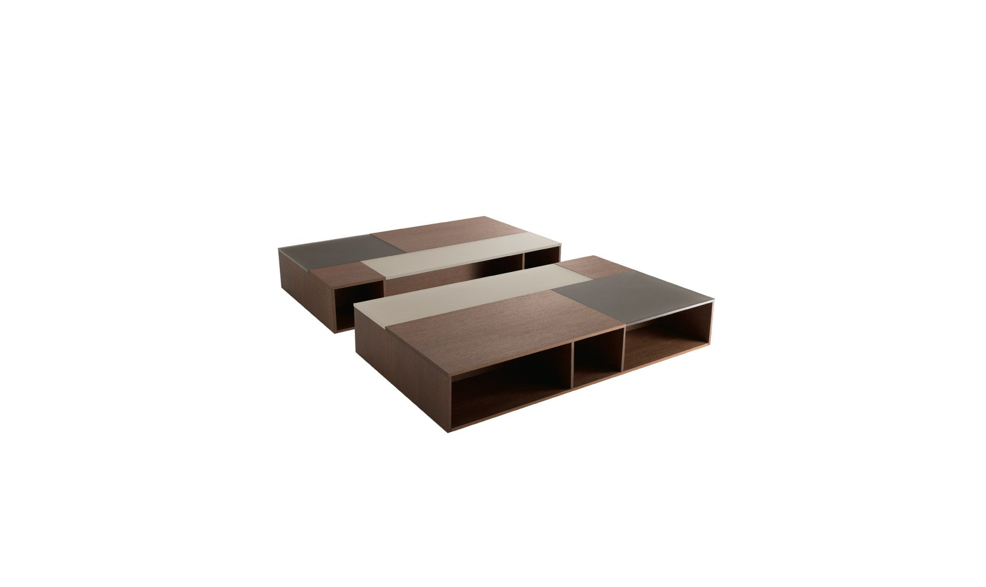 Jesse Prive Rectangular Coffee Table With Open Compartments Top With Frosted Lacquered Glass Inserts Anthra Rectangular Coffee Table Coffee Table Side Table [ 1144 x 1920 Pixel ]