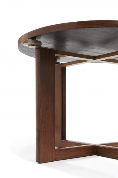 Paul Dupre Lafon 1900 1971 Table Basse Moderniste Circulaire En Acajou Detail Table Basse Meuble Table