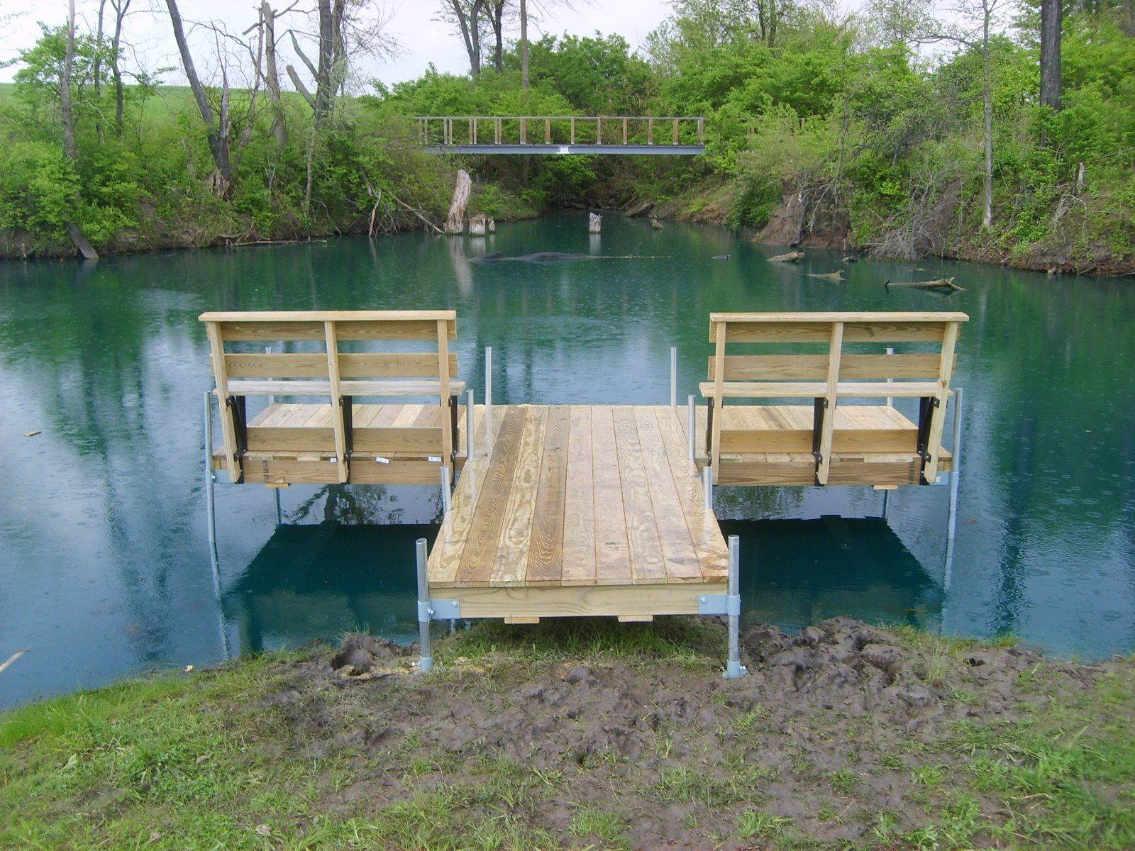 Herman brothers blog the perfect small pond dock cabin for Pond pier plans
