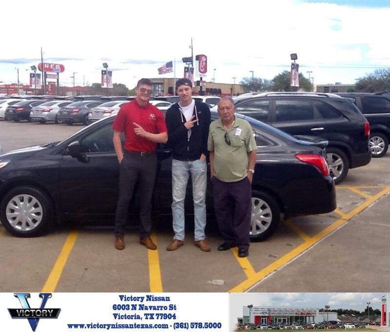 Victory Nissan Victoria Tx >> Congratulations Aaron On Your Nissan Versa From Brandon