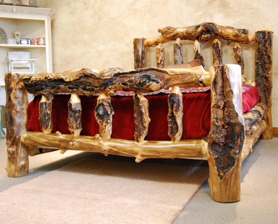 aspen log bedroom sets furniture extremely gnarly beds interesting db