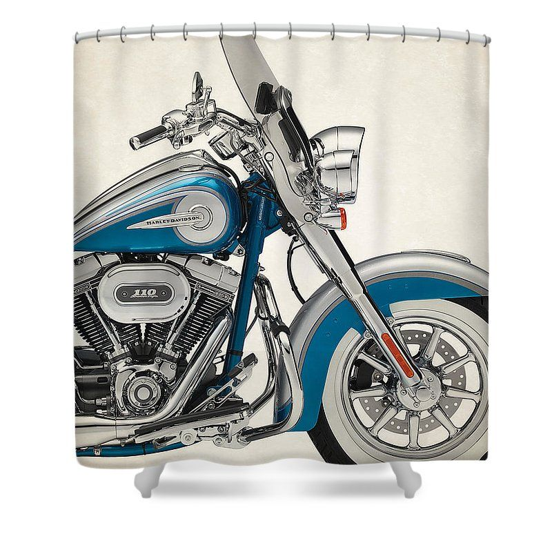 Harley Motorcycles Shower Curtain Featuring The Photograph Harley
