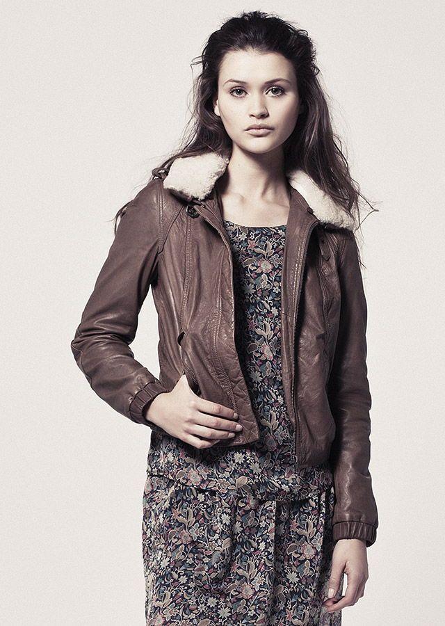 Blouson cuir femme hiver 2015
