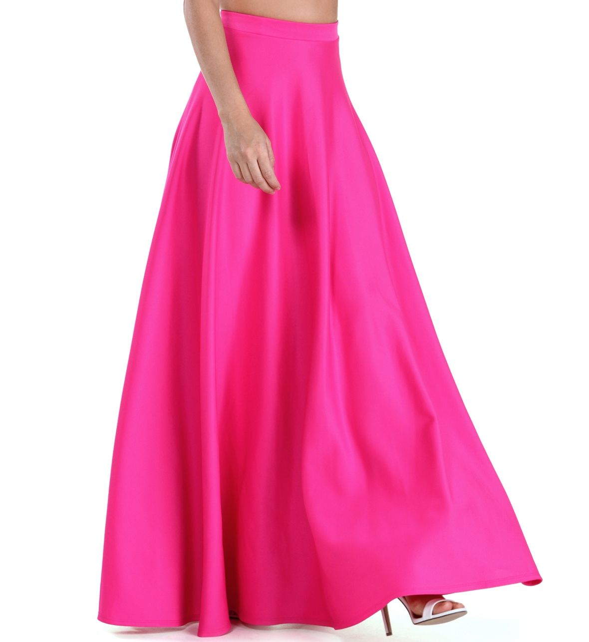 Pre-Order: Hot Pink Grand Scuba Maxi Skirt | Inverted Triangle ...