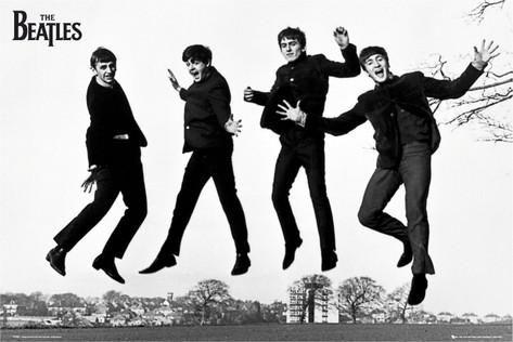 The Beatles 6 McCartney Lennon Rock Band Poster Running Away Black White Photo